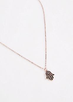 Good Fortune Hamsa Necklace