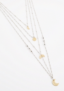 Moon Phase Layered Necklace