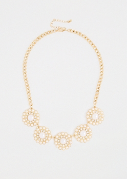 Pearl Daisy Chain Necklace