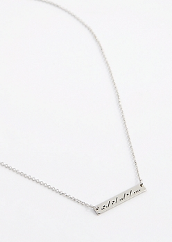 Faith Morse Code Necklace