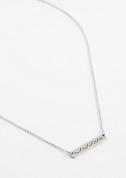 Dream Morse Code Necklace