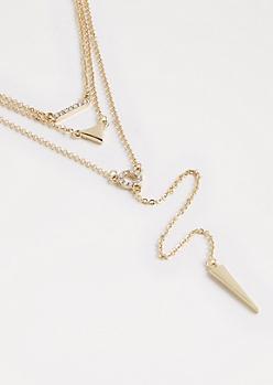 Gold Drop Y-Necklace