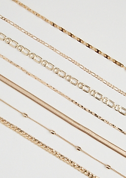 7-Pack Chain-Link Necklace Set