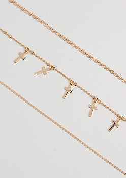 3-Pack Cross Layered Necklace