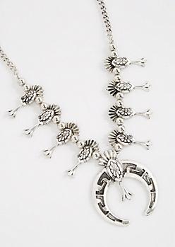 Squash Blossom Statement Necklace