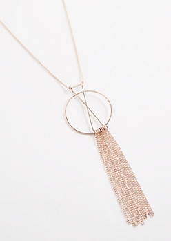 Geo Fringe Necklace