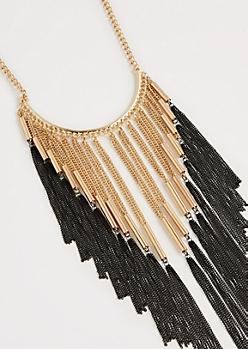 Tonal Fringe Necklace