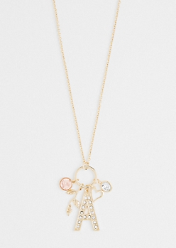 A For Adorable Cluster Necklace