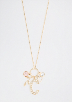 C For Creative Cluster Necklace
