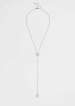 Caged Gemstone Y-Necklace