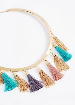 Tassel Drop Collar Necklace