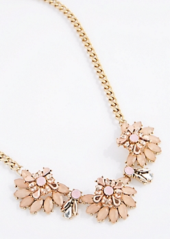 Flower Power Stone Necklace