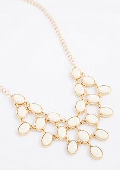 Ivory Stone Drop Necklace