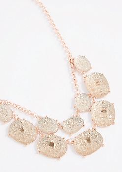Caviar Gem Double Row Necklace