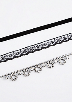 3-Pack Luxe Swag Choker Set