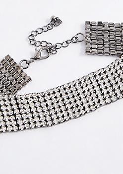 Diamante Grid Collar Choker