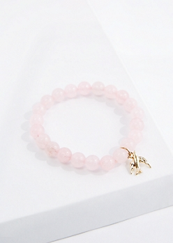Dove Pink Quartz Beaded Bracelet