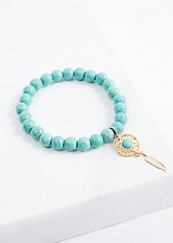 Dreamcatcher Turquoise Beaded Bracelet
