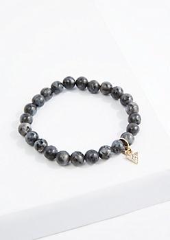 Stone Geo Beaded Bracelet