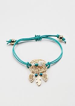 Turquoise Dreamcatcher Healing Stone Bracelet