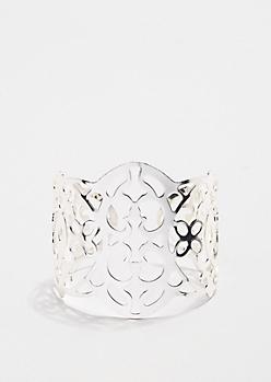 Metallic Open-Work Cuff Bracelet