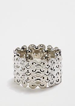 Metallic Swirled Stretch Bracelet