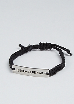 Be Brave Silver Charm Bracelet