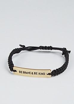 Be Brave Golden Charm Bracelet