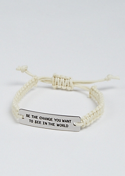 Be The Change Silver Charm Bracelet