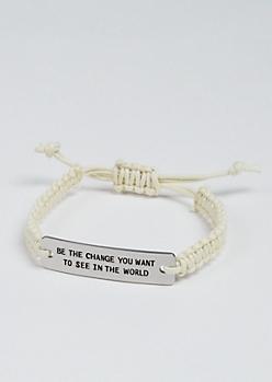 Be The Change Silver Charm Bracelet