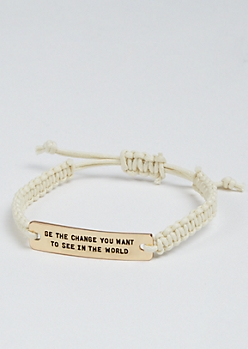 Be The Change Golden Charm Bracelet