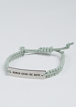 Human Kind Silver Charm Bracelet