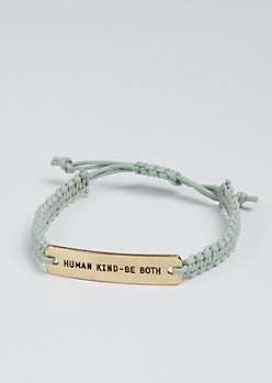 Human Kind Golden Charm Bracelet