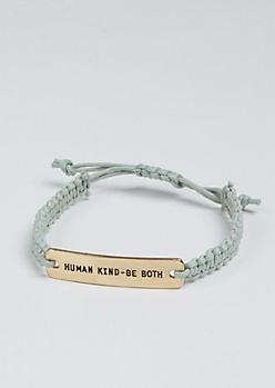 Human Kind Golden Charm Bracelet
