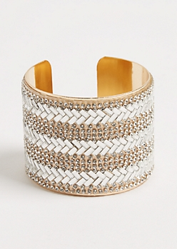 Golden Stone Embellished Cuff