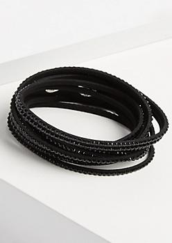 Black Stone Wrap Bracelet