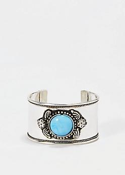 Turquoise Stone Cuff Bracelet