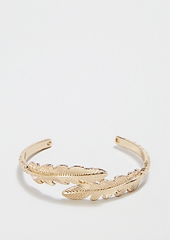 Gold Metallic Leaf Cuff