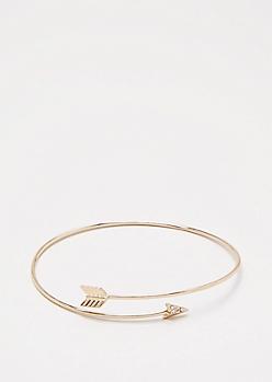 Gold Encircled Arrow Cuff