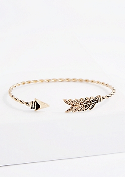 Antique Golden Twisted Arrow Bangle
