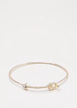 Gold Shimmer Arrow Bangle