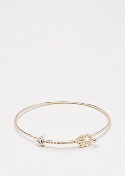 Gold Shimmer Arrow Bangle
