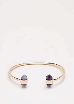 Purple Healing Stone Bangle