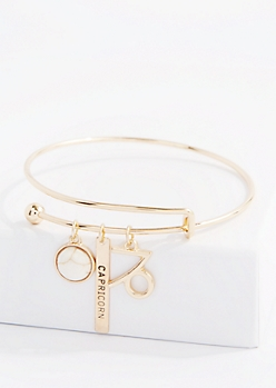 Capricorn Power Stone Charm Bangle