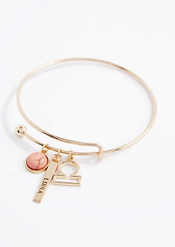 Libra Power Stone Charm Bangle