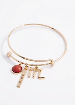 Scorpio Power Stone Charm Bangle