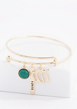 Virgo Power Stone Charm Bangle