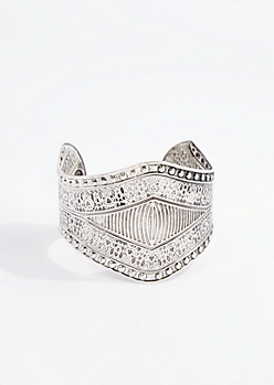 Antique Tribal Embossed Cuff