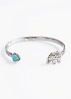 Turquoise Stone Tribal Cuff