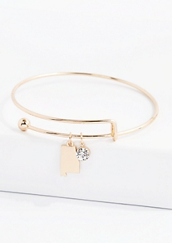 Alabama Stone Charm Bangle